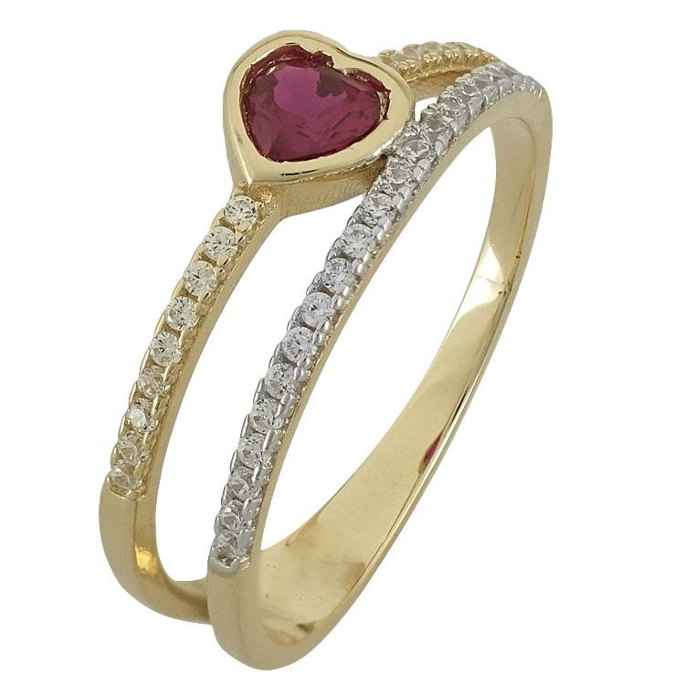 Κίτρινο Χρυσό ΔαχτυλίδιΚ14 DX80260