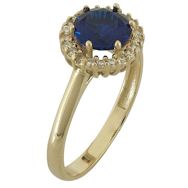 Κίτρινο Χρυσό Δαχτυλίδι Ροζέτα Κ14 DX80307