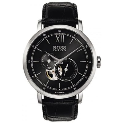 Hugo Boss Automatic Black Leather Strap 1513504