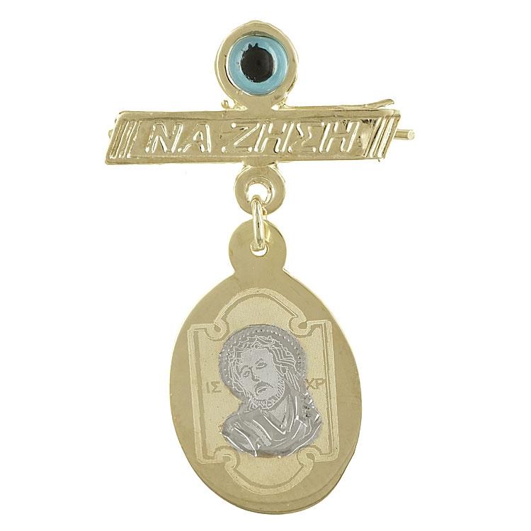 Δίχρωμη Χρυσή Παραμάνα με τον Χριστούλη PA397