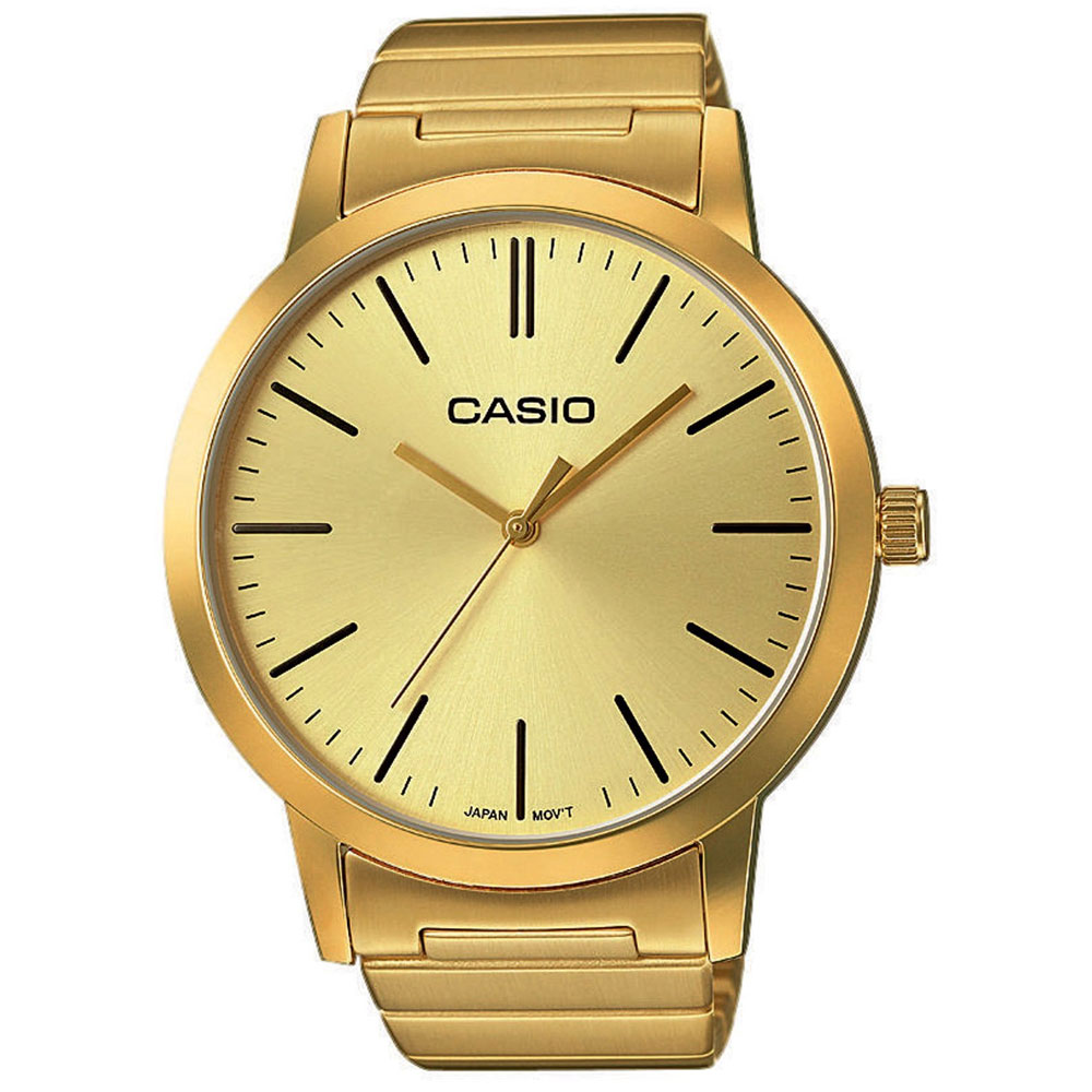 CASIO Collection Gold Stainless Steel Bracelet LTP-E118G-9AEF ... c5f013ab986