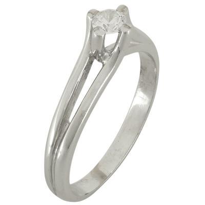 Ασημένιο Μονόπετρο Δαχτυλίδι DX548