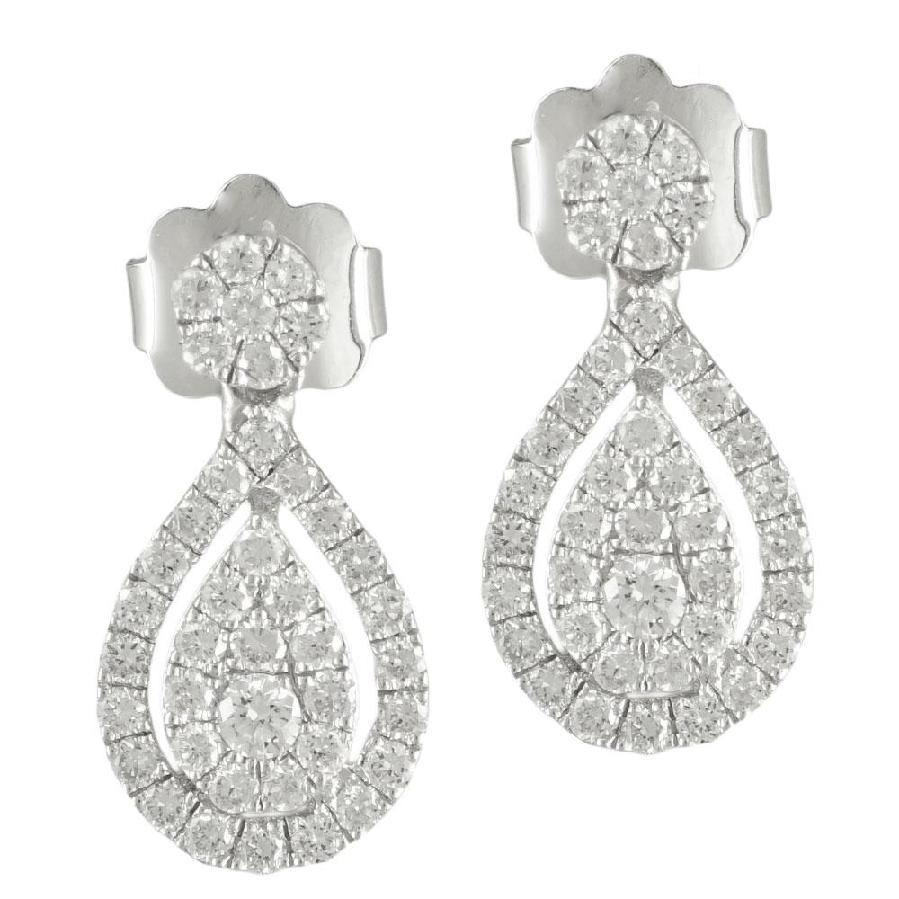 Λευκόχρυσα Σκουλαρίκια με Διαμάντια Brilliant Κ18 E6712 96a9595a224