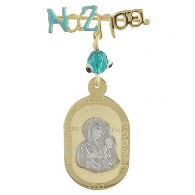 Δίχρωμη Χρυσή Παραμάνα με την Παναγίτσα K9 PA378