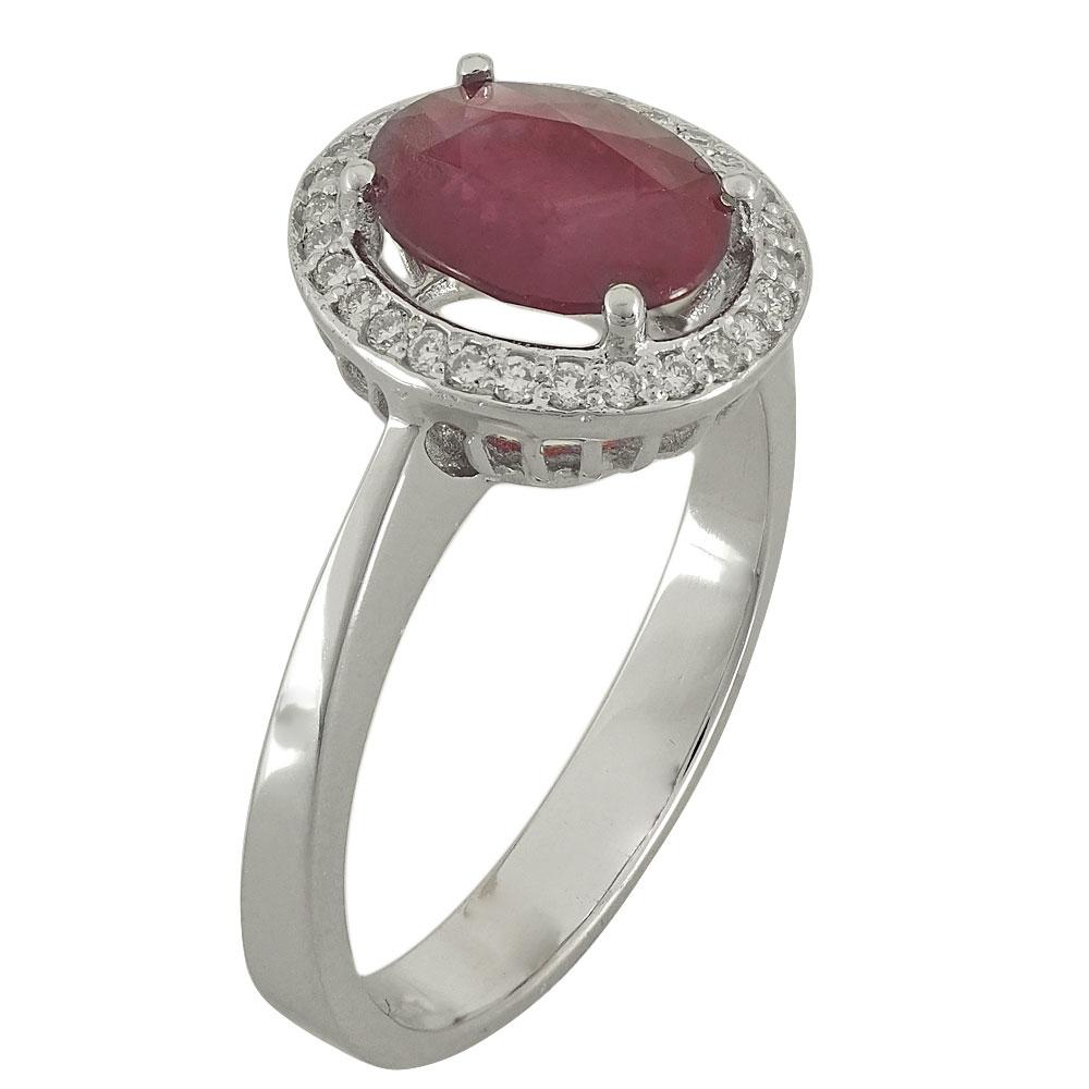Λευκόχρυσο Δαχτυλίδι Ροζέτα Κ18 με Διαμάντια Brilliant R18684