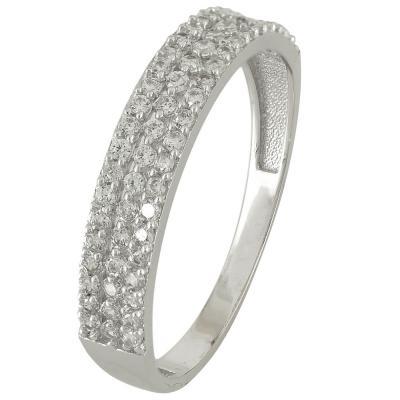 Λευκόχρυσο Μισόβερο Δαχτυλίδι Κ14 DX74514