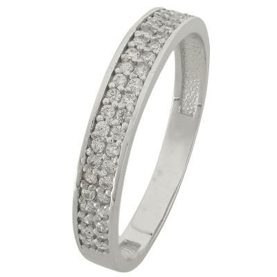 Λευκόχρυσο Μισόβερο Δαχτυλίδι Κ14 DX84821