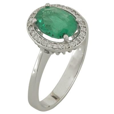 Λευκόχρυσο Δαχτυλίδι Ροζέτα Κ18 με Διαμάντια Brilliant R18686