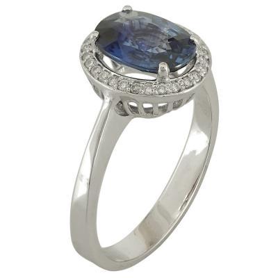 Λευκόχρυσο Δαχτυλίδι Ροζέτα Κ18 με Διαμάντια Brilliant R18685