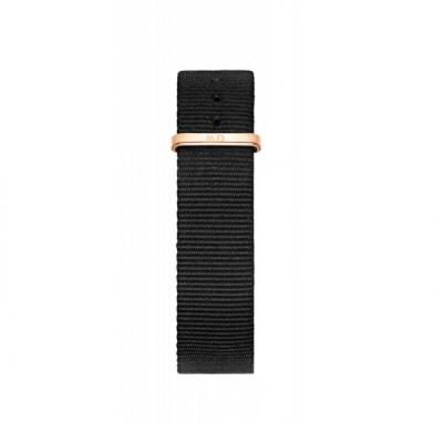 Daniel Wellington Classic Black Cornwall Fabric Strap Rose Gold DW00200137