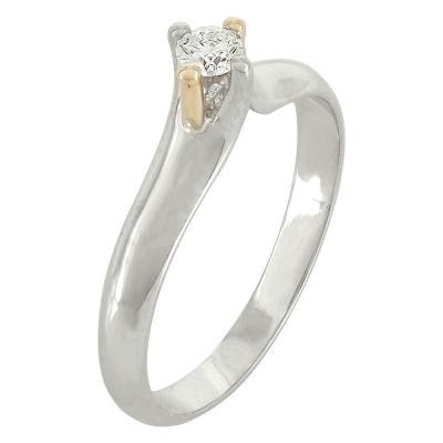 Μονόπετρο Δαχτυλίδι Κ18 με Διαμάντι DDX209