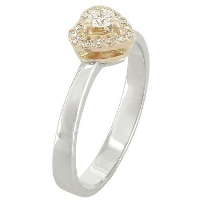 Μονόπετρο Δαχτυλίδι Κ18 Με Διαμάντι DDX211