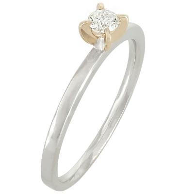 Μονόπετρο Δαχτυλίδι Κ18 Με Διαμάντι DDX213