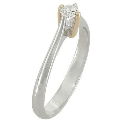 Μονόπετρο Δαχτυλίδι Κ18 Με Διαμάντι DDX214