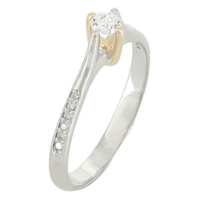 Moνόπετρο Δαχτυλίδι Κ18 Με Διαμάντι DDX210