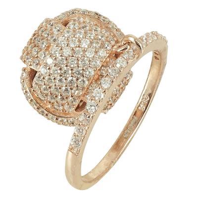 Jools Ασημένιο Ροζ Επιχρυσωμένο Δαχτυλίδι R170062.2