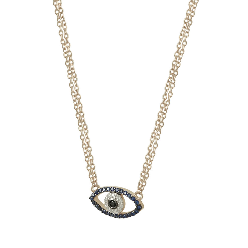 Jools Rose Gold Plated Silver Necklace With Eye JNY9214.3  781e6e4a416