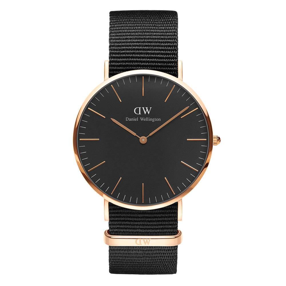 DANIEL WELLINGTON Cornwall Classic Black And Rose DW00100148