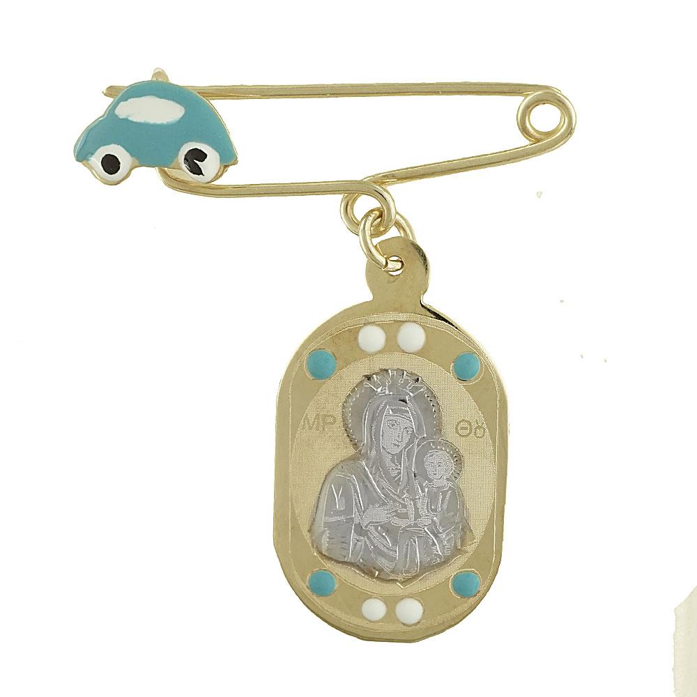 Δίχρωμη Χρυσή Παραμάνα με την Παναγίτσα K9 PA386