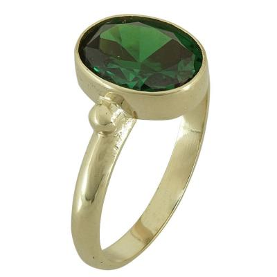 Κίτρινο Χρυσό Δαχτυλίδι με Ημιπολύτιμη Πέτρα Κ14 DX534