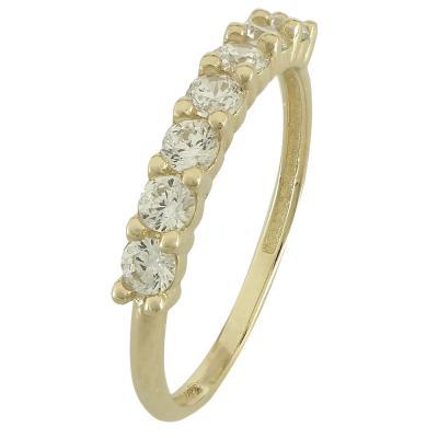 Κίτρινο Χρυσό Σειρέ Δαχτυλίδι Κ14 DX86182