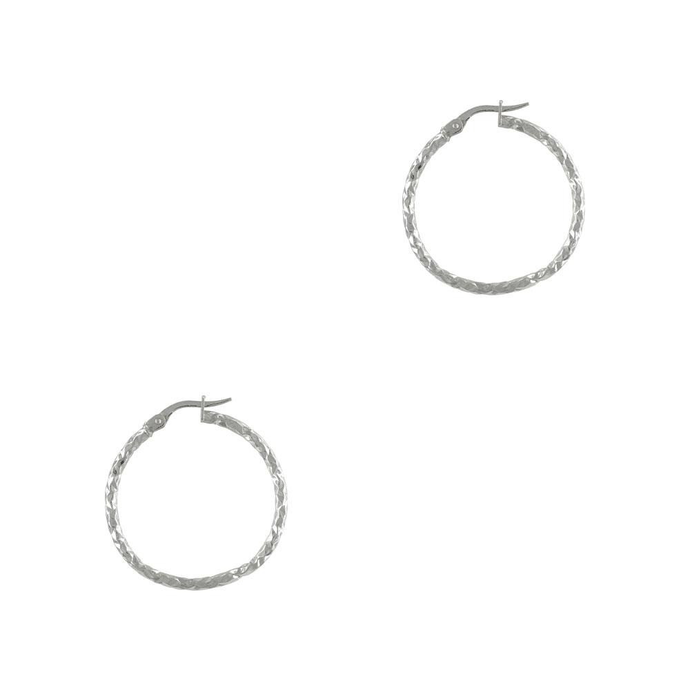 Λευκόχρυσα Σκουλαρίκια Κρίκοι Κ14 SK730
