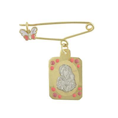 Δίχρωμη Χρυσή Παραμάνα με την Παναγίτσα K9 PA423