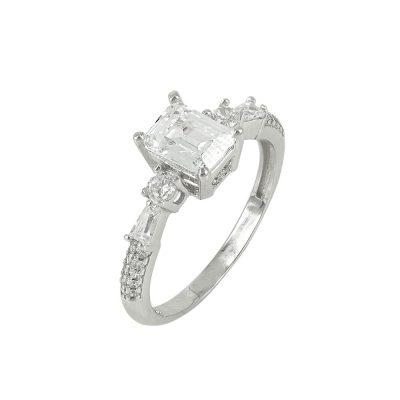 Λευκόχρυσο Μονόπετρο Δαχτυλίδι Κ14 DX91059