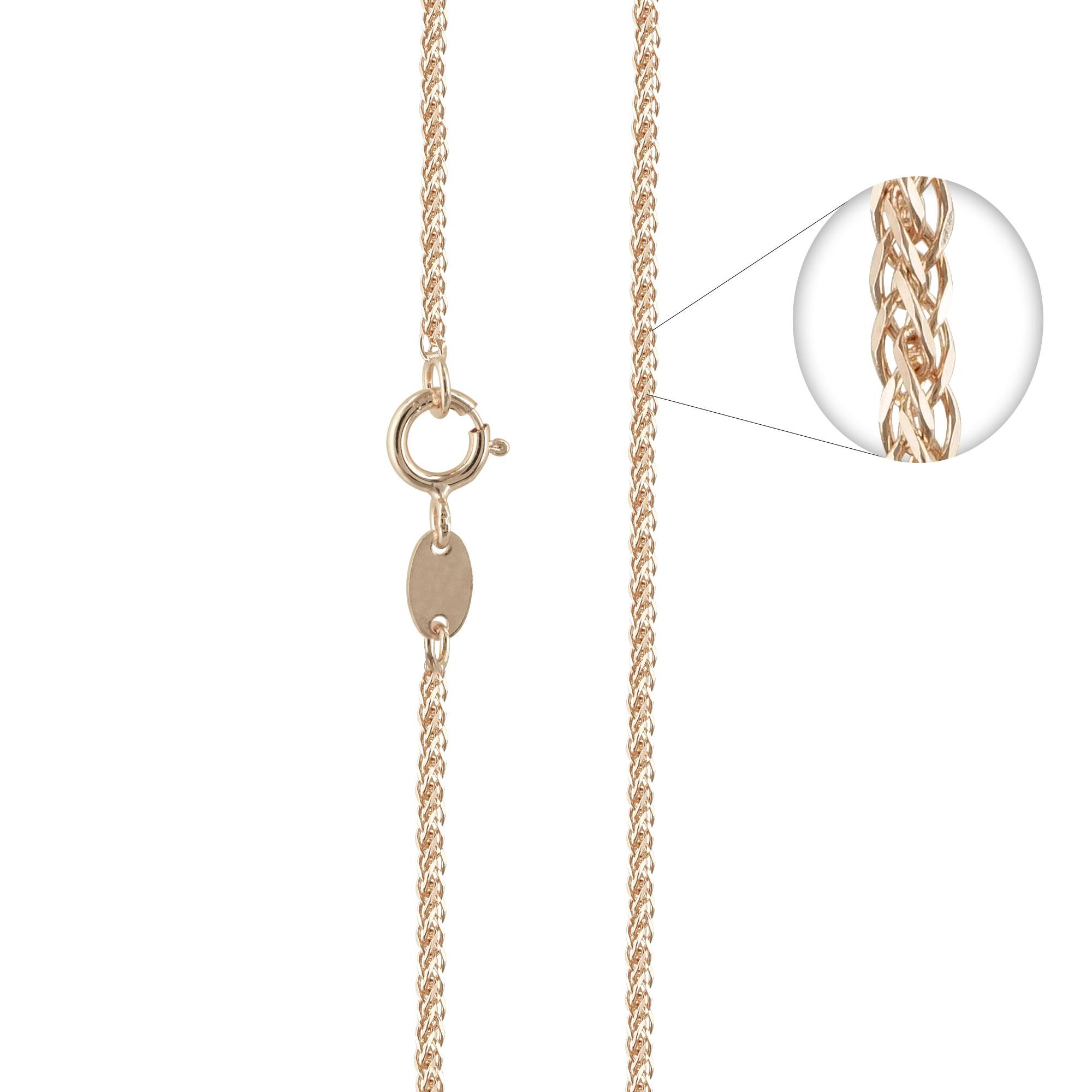 Ροζ Χρυσή Αλυσίδα Σπίγγα #1 AL113 k14 50cm