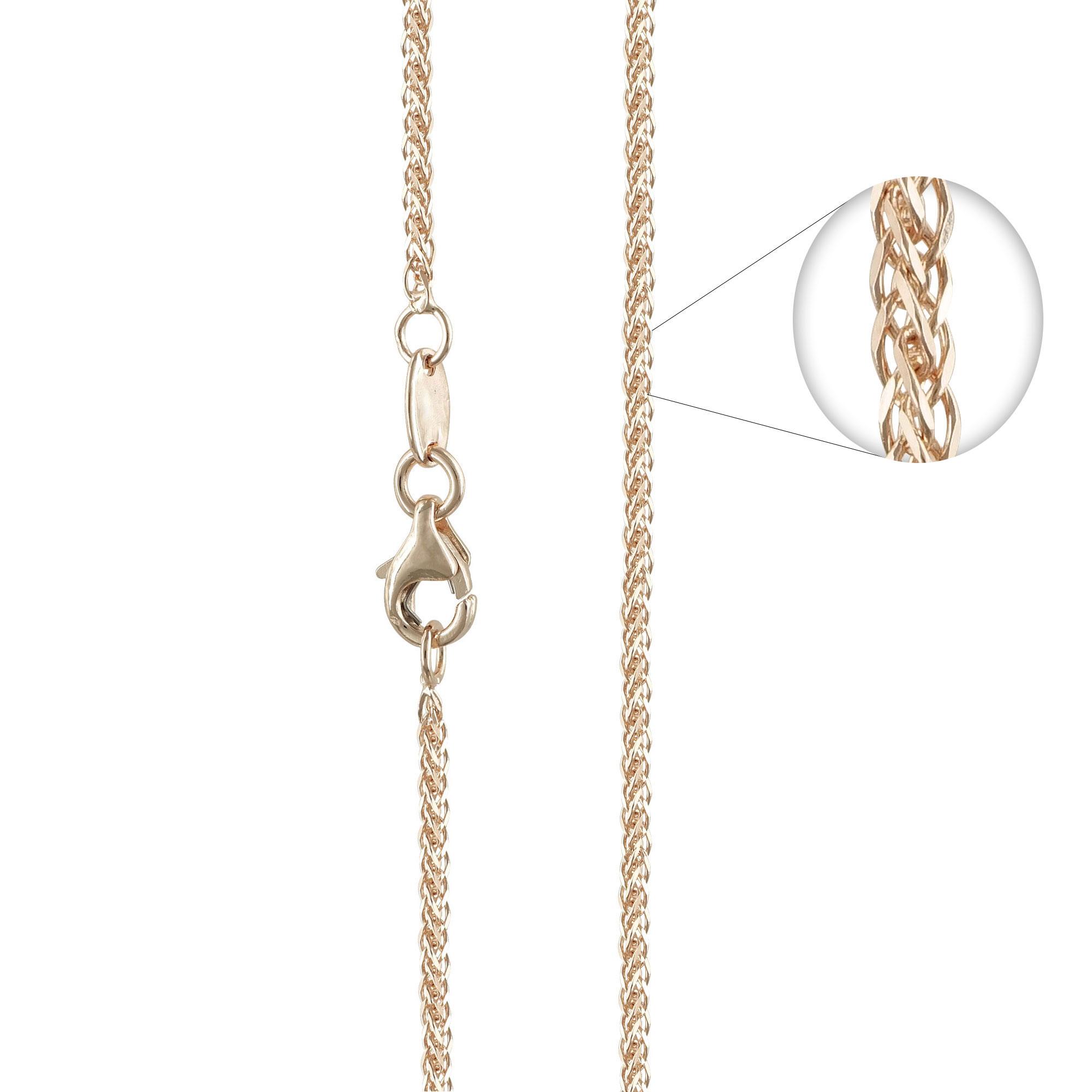 Ροζ Χρυσή Αλυσίδα Σπίγγα #3 AL115 k9 45cm