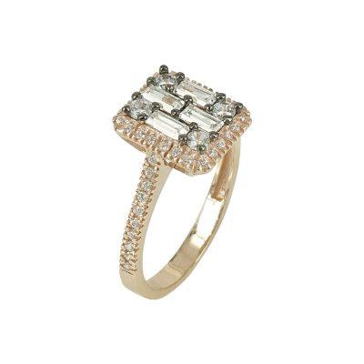 Ροζ Χρυσό Δαχτυλίδι Κ14 DX91277