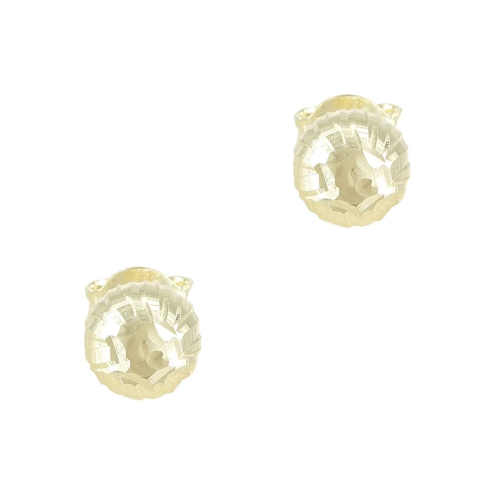 Κίτρινα Χρυσά Σκουλαρίκια Φούσκες Κ14 SK607
