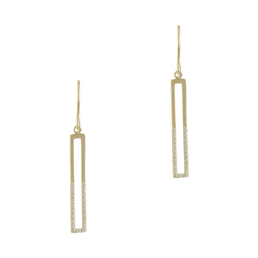 Κρεμαστά Σκουλαρίκια Από Κίτρινο Χρυσό Κ14 SK711