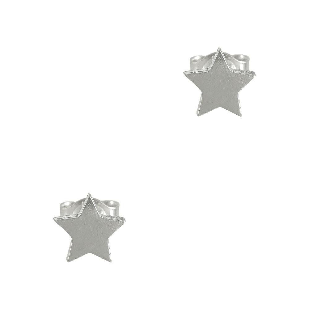 Λευκά Χρυσά Παιδικά Σκουλαρίκια Αστεράκια PSK307