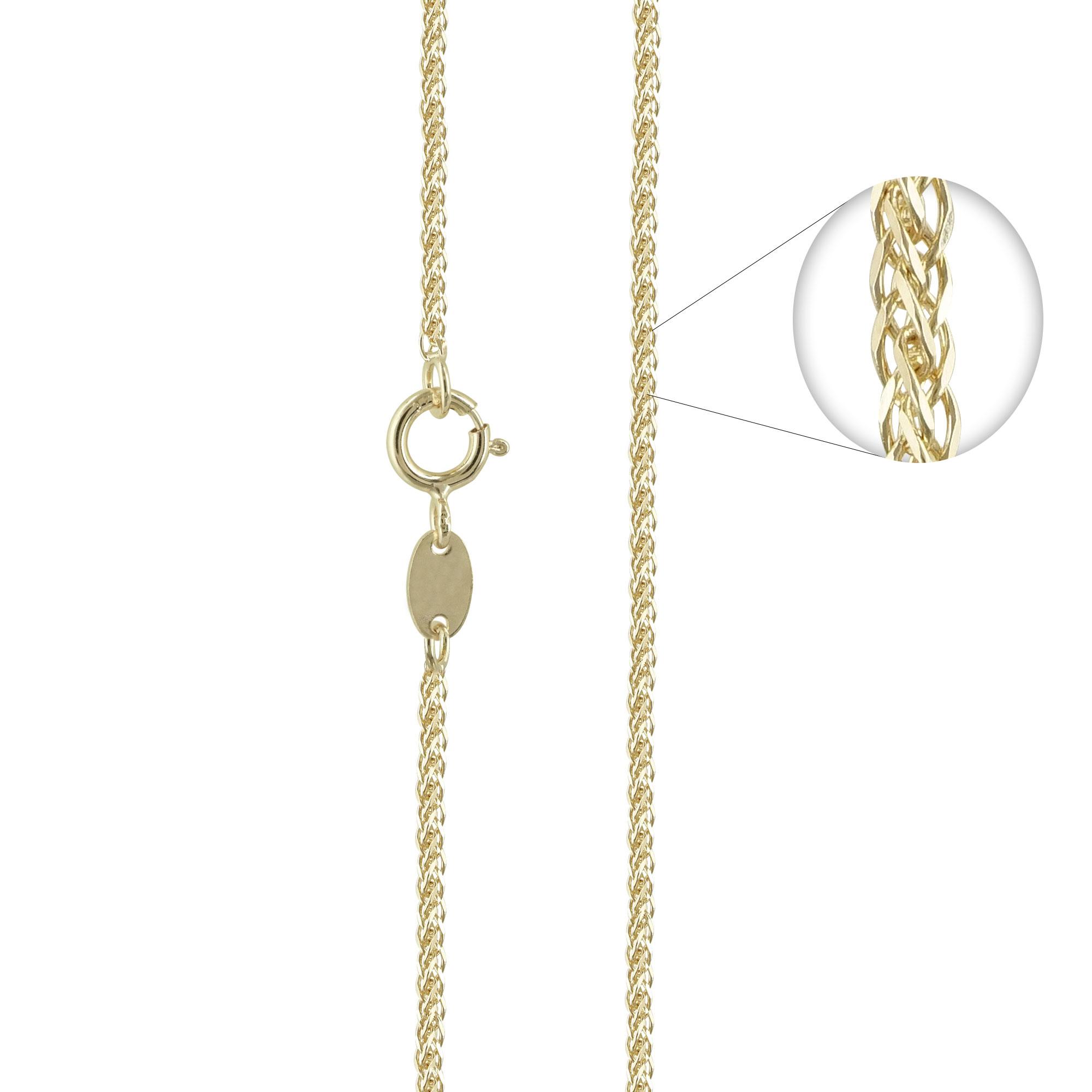 Κίτρινη Χρυσή Αλυσίδα Σπίγγα #1 AL110 k14 55cm