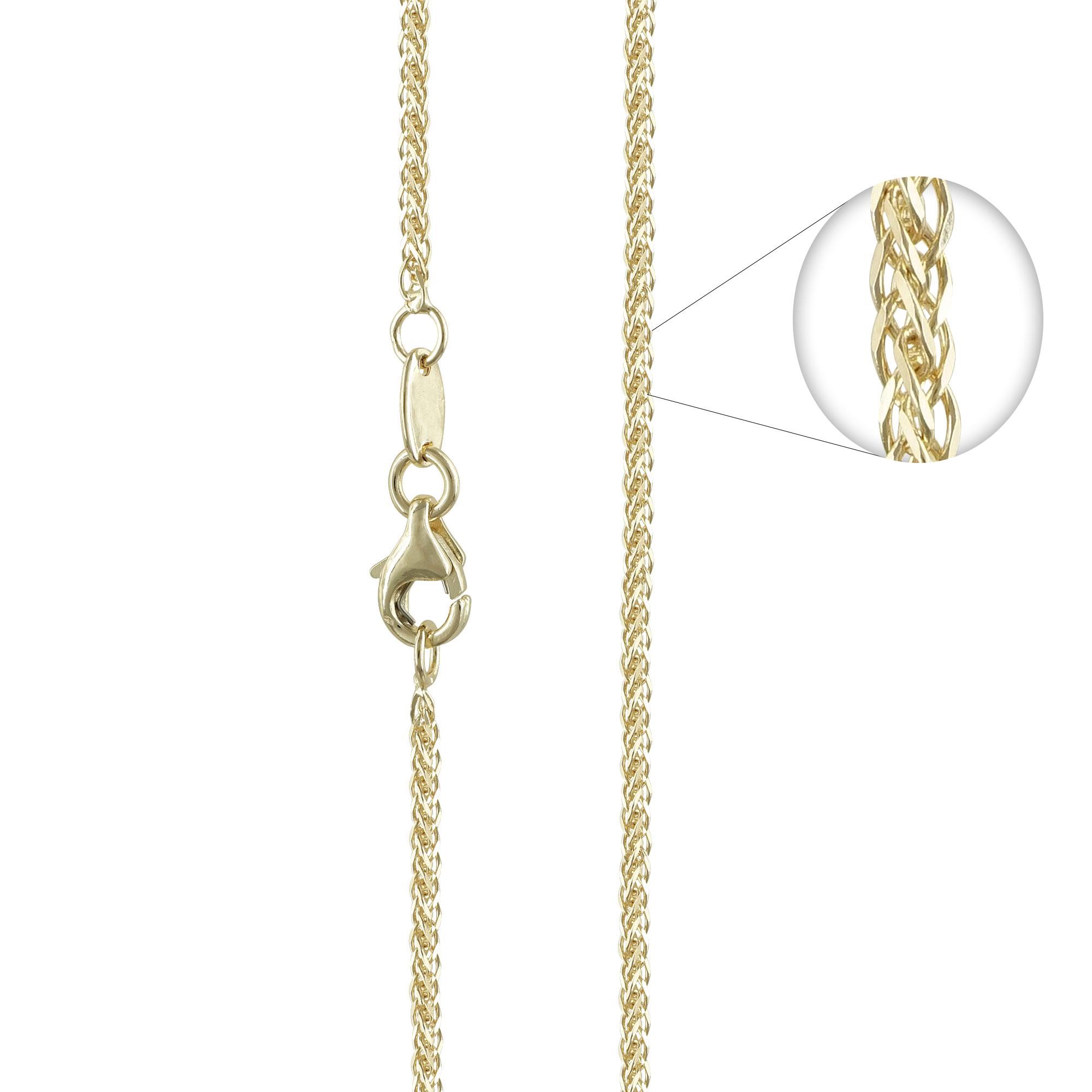 Κίτρινη Χρυσή Αλυσίδα Σπίγγα #3 AL112 k14 50cm