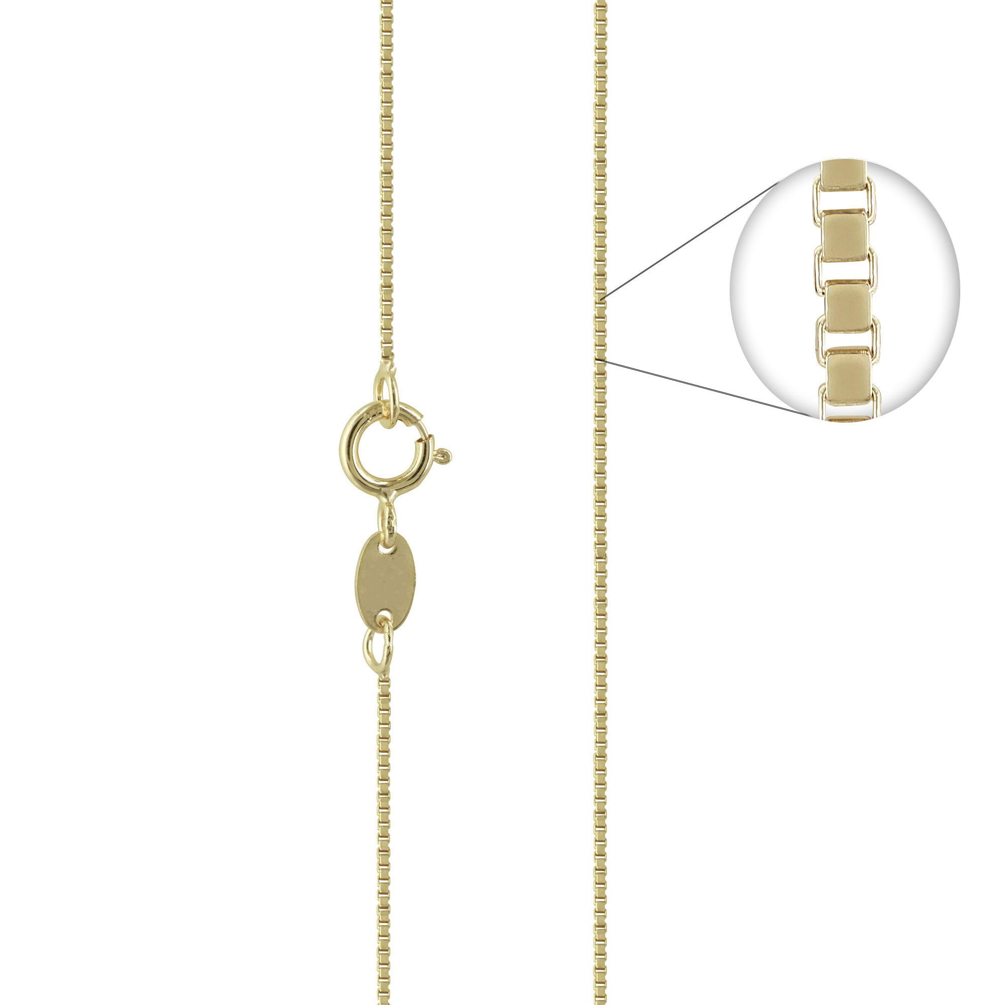 Κίτρινη Χρυσή Αλυσίδα Βενετσιάνα #1 AL103 k14 40cm