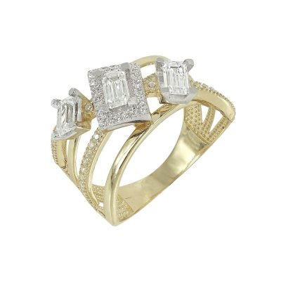 Κίτρινο Χρυσό Μοντέρνο Δαχτυλίδι Κ14 DX91711