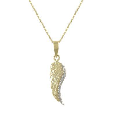 Χρυσό Παιδικό Μενταγιόν Φτερό Κ9 PM127