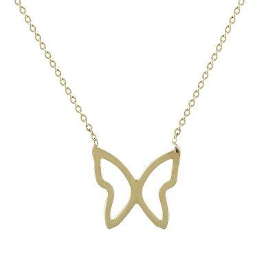 Χρυσό Παιδικό Μενταγιόν Πεταλούδα Κ14 PM117
