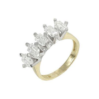 Δίχρωμο Χρυσό Δαχτυλίδι Σειρέ Κ14 DX91616