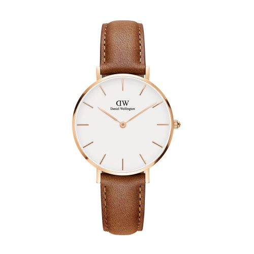 DANIEL WELLINGTON Classic Durham Brown Leather Strap Rose Gold 32 mm DW00100172