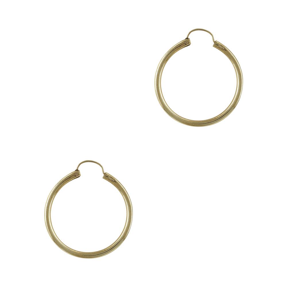 Κίτρινα Χρυσά Σκουλαρίκια Κρίκοι Κ14 SK694