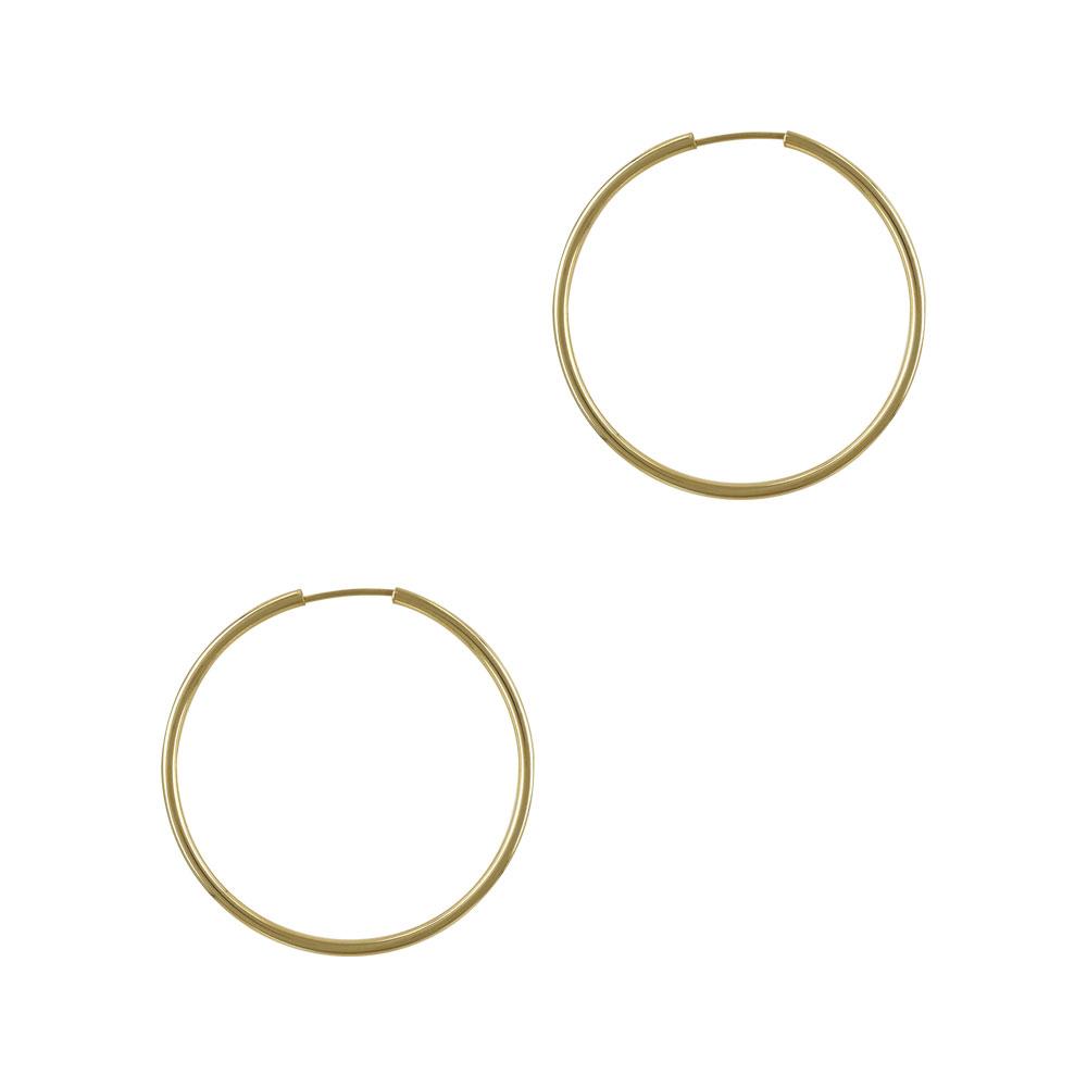 Κίτρινα Χρυσά Σκουλαρίκια Κρίκοι Κ14 SK699