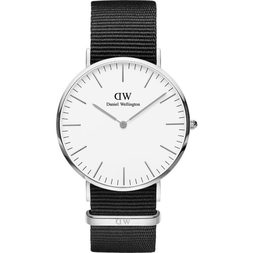 DANIEL WELLINGTON Classic Cornwall Black Fabric Strap DW00100258