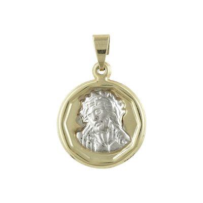 Δίχρωμο Χρυσό Φυλαχτό με τον Χριστούλη K9 PA455