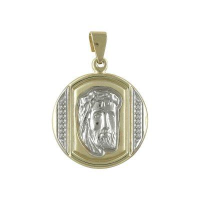 Δίχρωμο Χρυσό Φυλαχτό με τον Χριστούλη K9 PA458