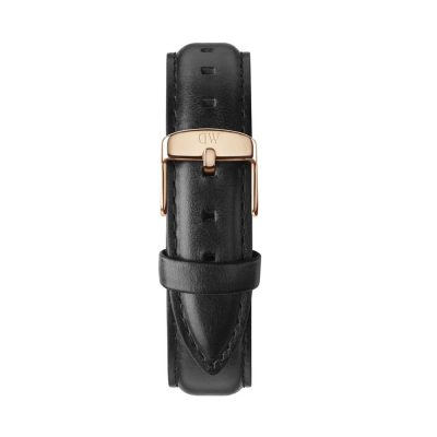 DANIEL WELLINGTON Classic Sheffield Black Leather Strap Rose Gold 18 mm DW00200036