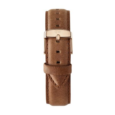 DANIEL WELLINGTON Classic Durham Brown Leather Strap Rose Gold 20 mm DW00200125