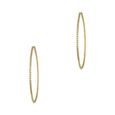 Κίτρινα Χρυσά Σκουλαρίκια Κρίκοι Κ14 SK701